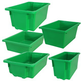 Green Plastic Stack & Nest Crates
