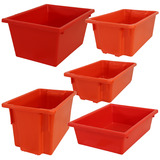 Red Plastic Stack & Nest Crates