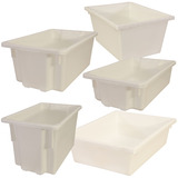White Plastic Stack & Nest Crates