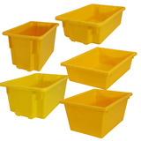 Yellow Plastic Stack & Nest Crates