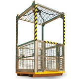 4 Person Crane Platform Cage (with mesh roof)