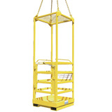 1 Person Crane Platform Cage (with Mesh Roof)