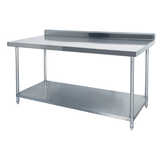 Stainless Steel Benches (with Splashback)