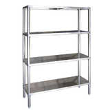 Stainless Steel 4 Tier Shelving Sets
