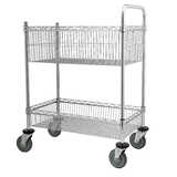 2 Tier Wire Mail Trolley
