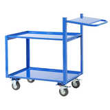 General Purpose 2 Tier Trolley (with Extended Handle & Writing Shelf)