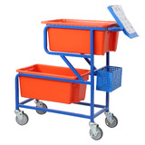 Twin Offset Tub Order Picking Trolley