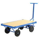 Timber Deck Wagon Platform Trolley