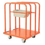 Steel Panel Rack Cart (with tool bin)