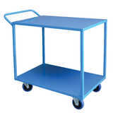 2 Tier Steel Trolley 600x900mm