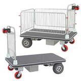Powered Platform Trolley (with cage)