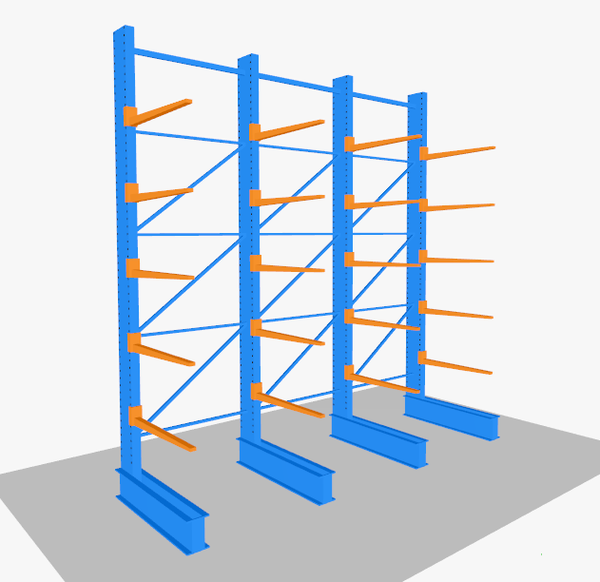 Single Sided Cantilever Racking Set (1 run of 3 bays)
