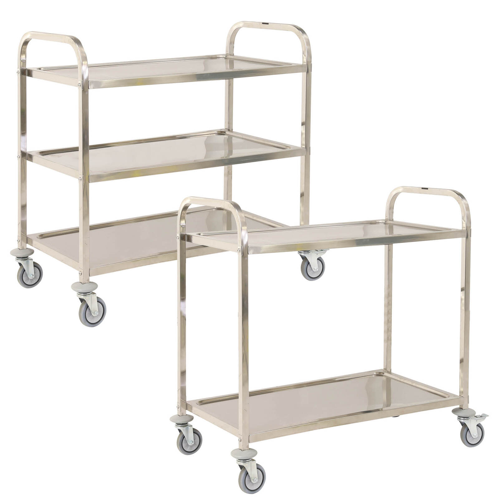 3 Tier Stainless Steel Utility Cart