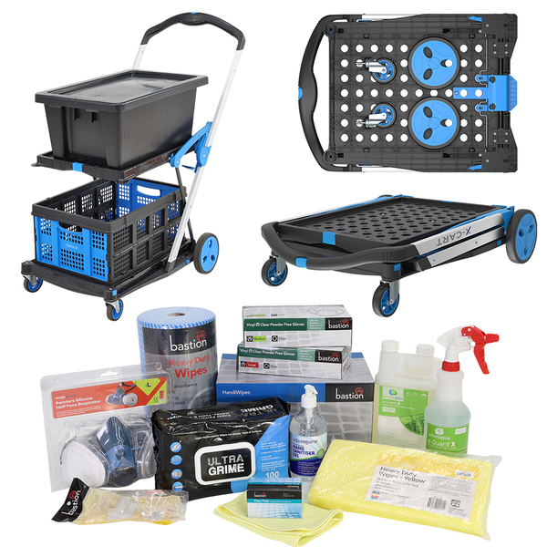 X-Cart Folding Plastic and Aluminium Trolley - Hygiene Kit