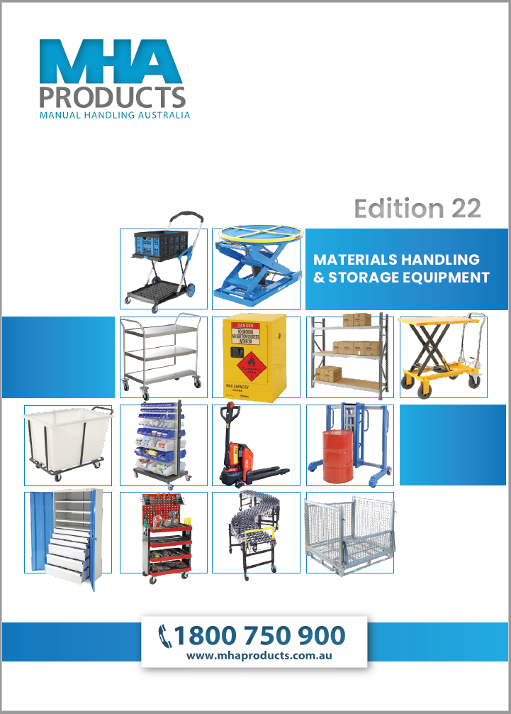 MHA Products Materials Handling and Storage Catalogue 2018