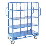 Heavy Duty Sloping 4 Shelf Trolleys