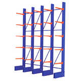 Heavy Duty Single Sided Cantilever Racking Set (1 run of 4 bays)