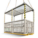 6 Person Crane Platform Cage (with Mesh Roof)