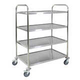 4 Tier Stainless Steel Trolley