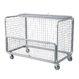 Mesh Trolley With Folding Lid & Side