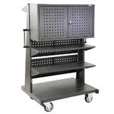 Mobile Panel Cart With Storage Cabinet