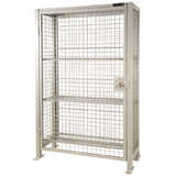 Wire Mesh Lockable Sanitiser Storage Cage