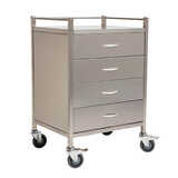 Stainless Steel Instrument Trolleys - With 4 Drawers