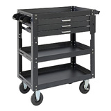 Steel Utility Cart (3 Draw + 2 Draw Shelves)