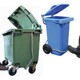 Plastic Wheelie Bins (with Stainless Steel Foot Pedal)